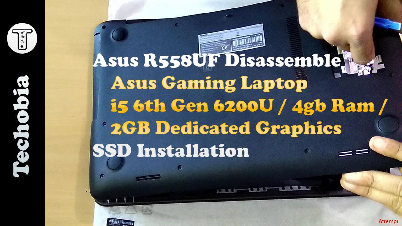 Asus R558U opening