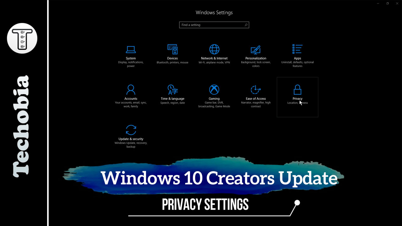 Windows 10 Creative Update Settings