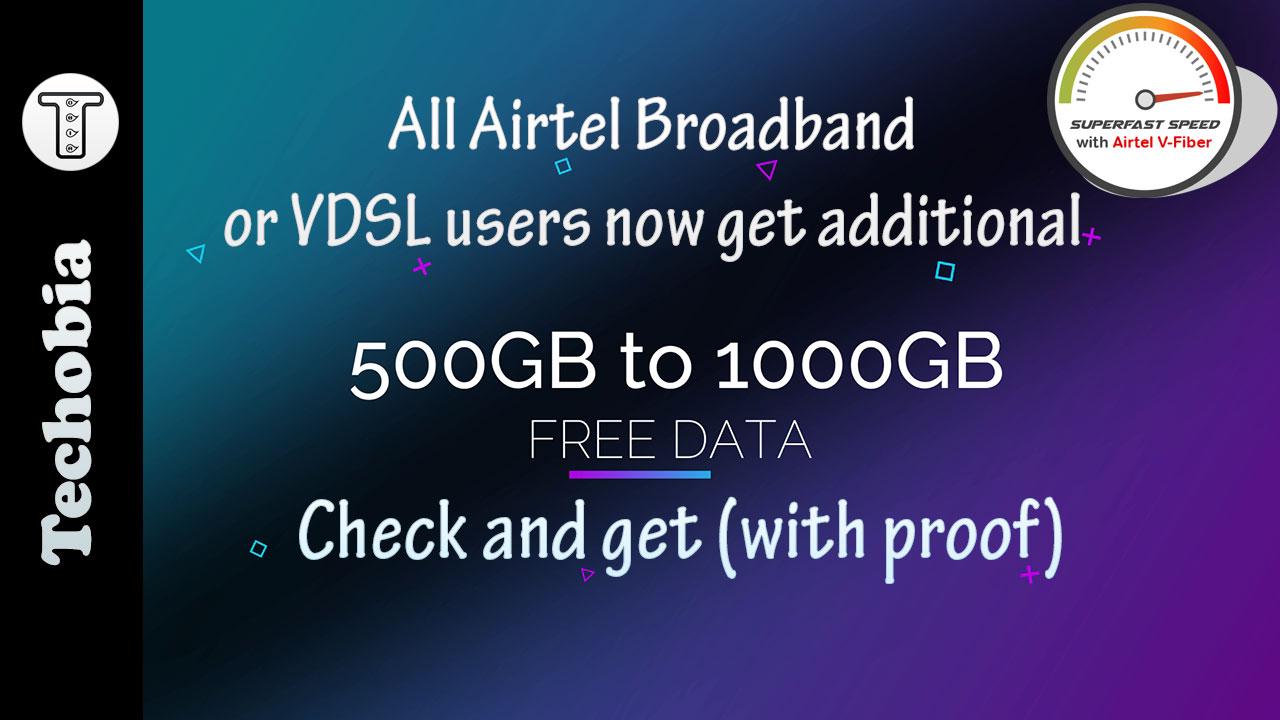 Airtel VDSL free data